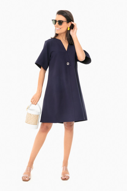 midnight blue ines dress