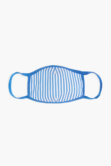 striped civilian face mask