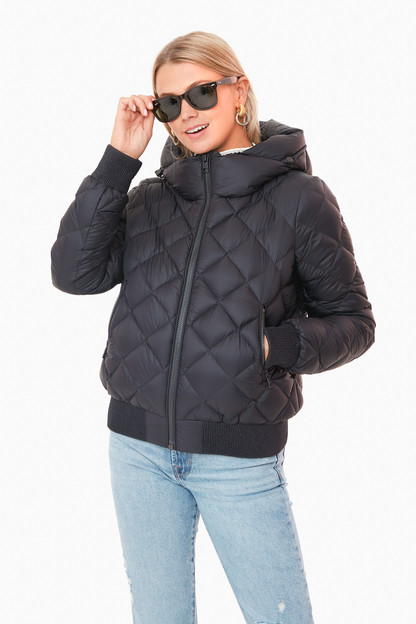 black senna puffer jacket
