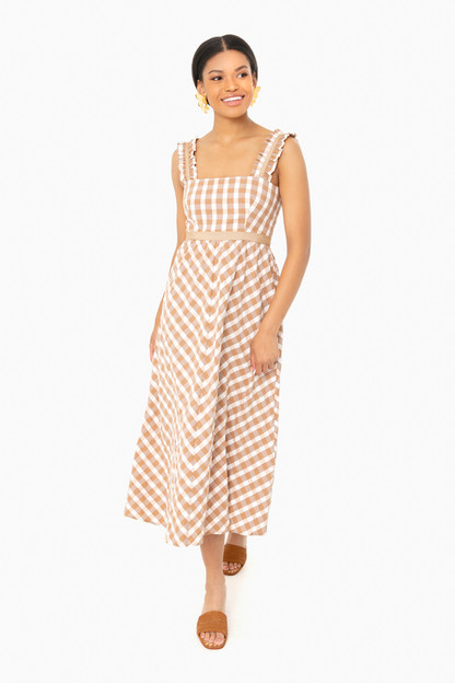 gingham madeline dress