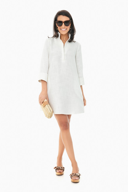 white basket weave megan dress