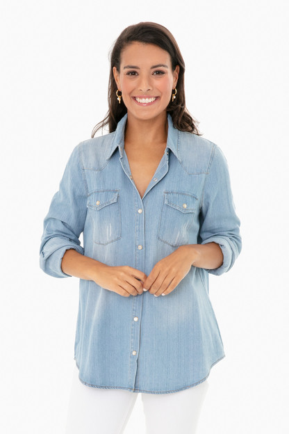 chambray steele shirt