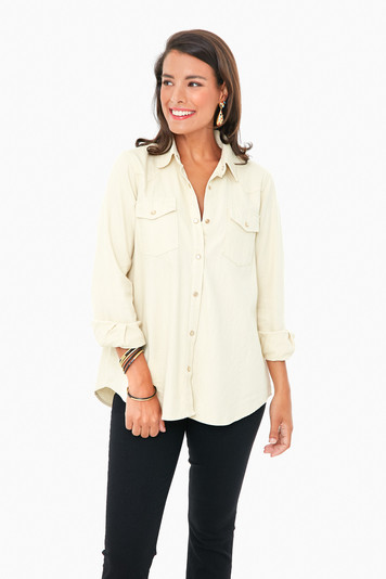 ivory denim steele shirt