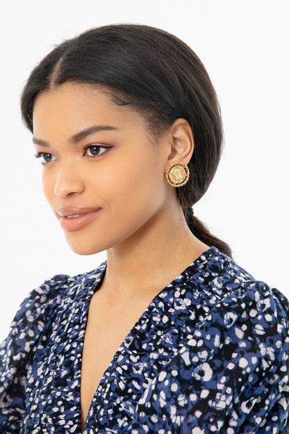 constantine coin earrings