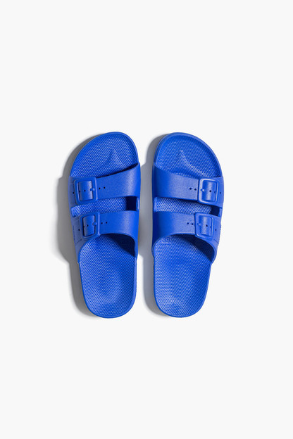 kid's blue moses sandal