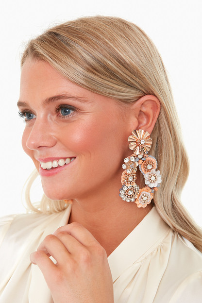 pink elyse earrings