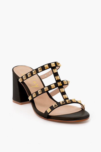 black foster stud sandals