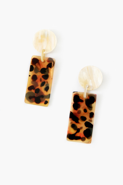 tortoise cabana earrings