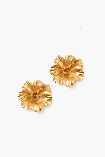 gold tamara flower earrings