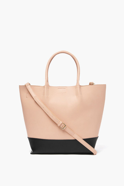 pink and black revenge tote