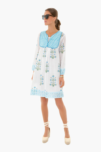 cornflower blue lily jaipur dress
