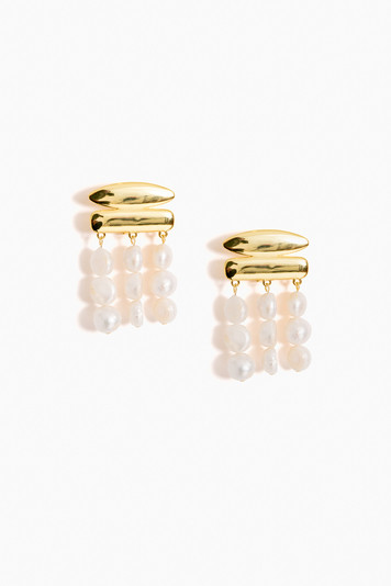pearl tala earrings