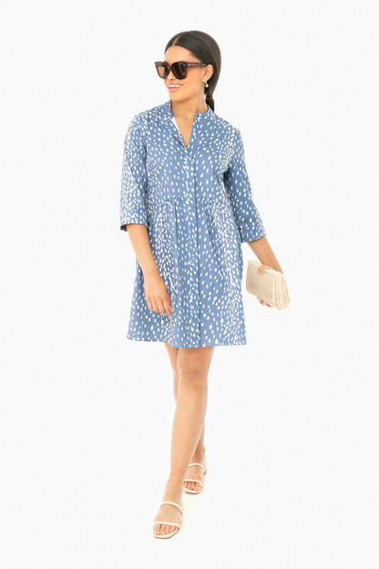 blue antelope royal shirt dress