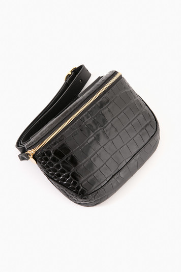 black croco fanny pack