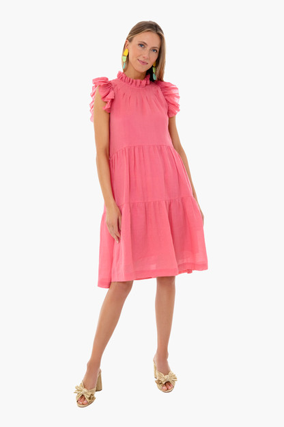 berry hattie ramie tiered tunic dress