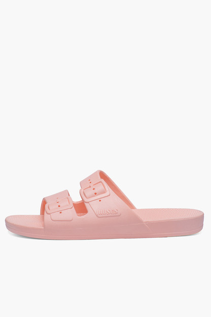 light baby pink moses sandals