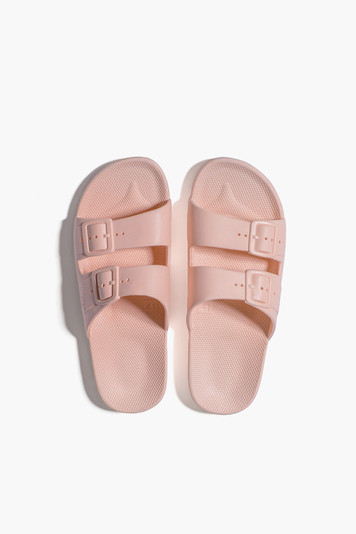 baby pink moses sandals