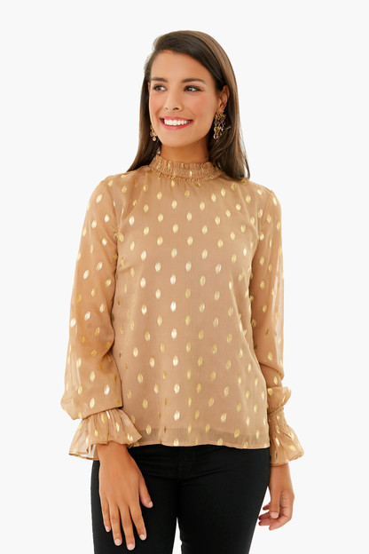 tan celeste blouse