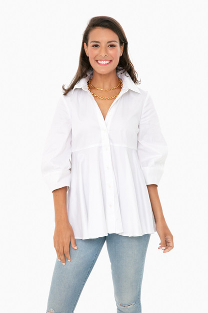 white lily blouse