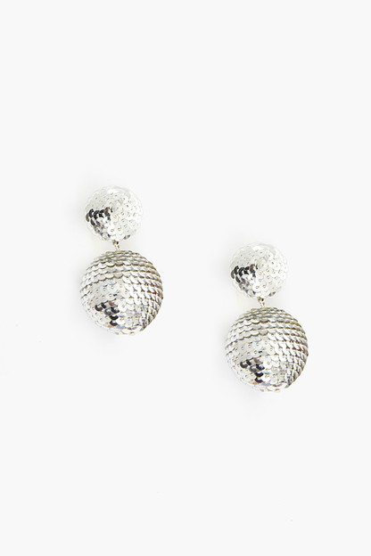 Silver Sequin Petite Lantern Earrings Take up to 30% off with code BIGSALE.