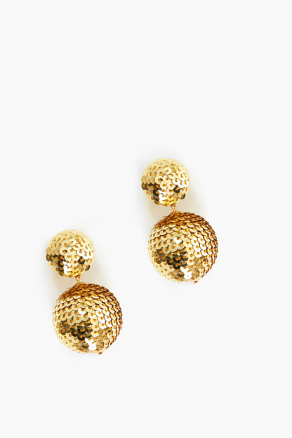 Gold Sequin Petite Lantern Earrings Take up to 30% off with code BIGSALE.