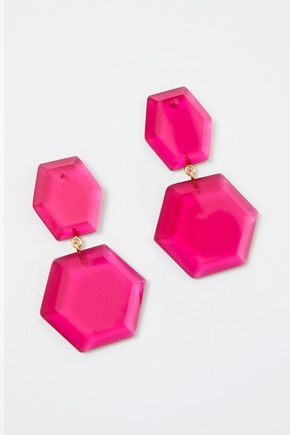 fuchsia maya earrings