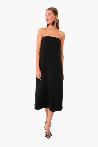 strapless noir crepe marin dress