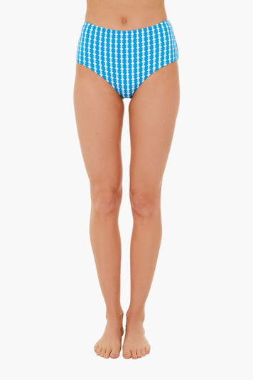 deep sky blue zala high waist bottom