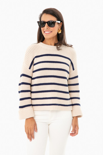 cream stripe channing sweater