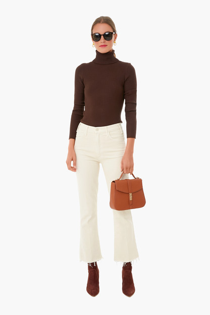 chocolate sonia ribbed turtleneck