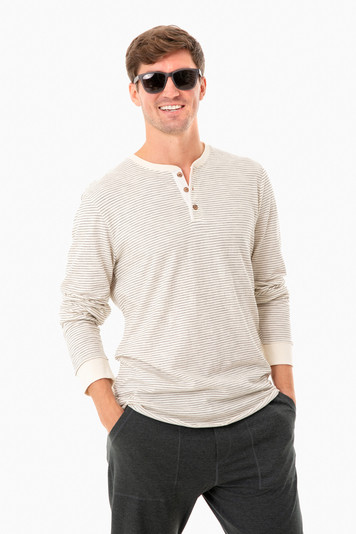 natural striped lw henley