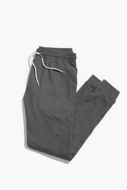 charcoal heather yoga jogger
