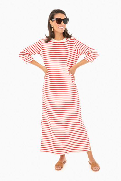 red stripe gio maxi dress