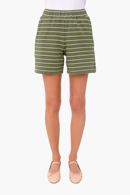 olive stripe jojo shorts