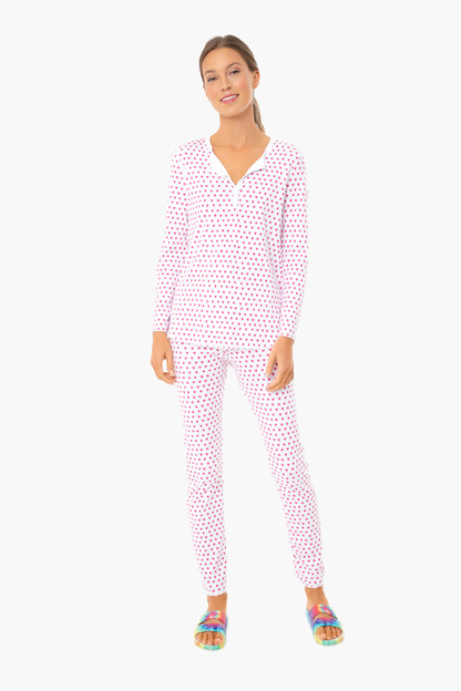 pink hearts pajamas