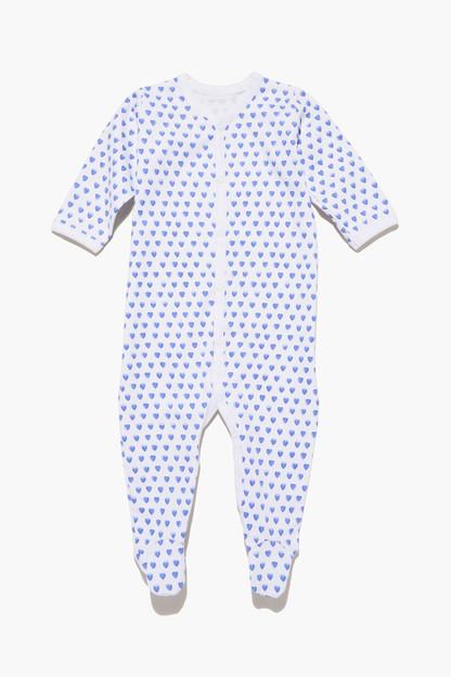 blue infant hearts pajamas
