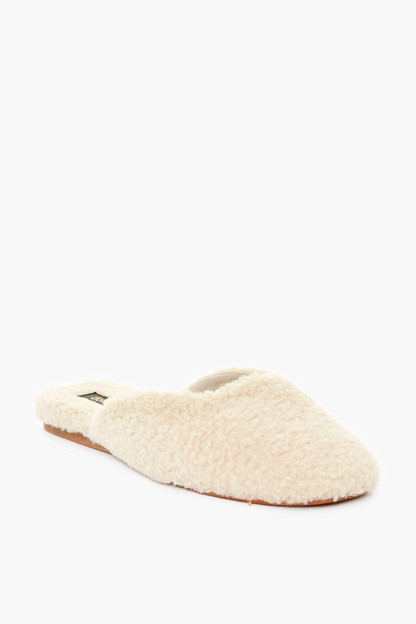 natural shearling saydee slippers