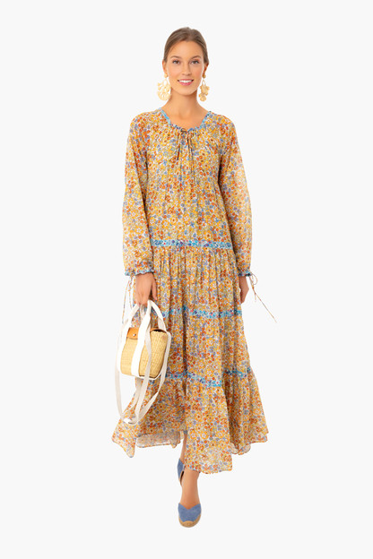 flower power colonial dress