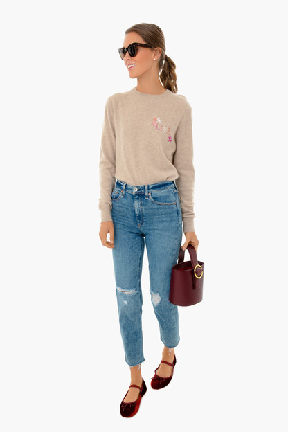 oatmeal love cashmere sweater