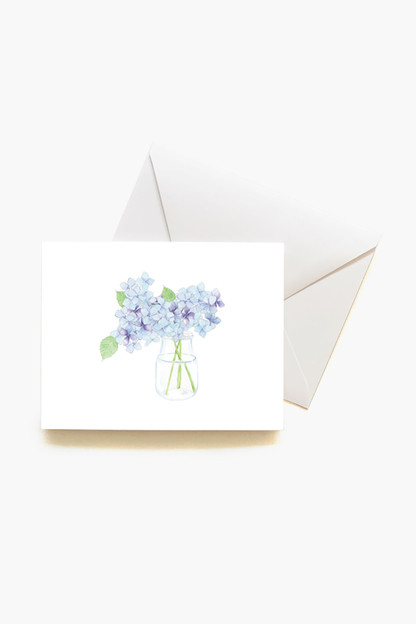 hydrangea boxed notes set