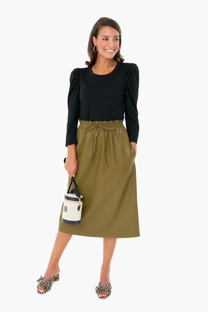 Green Leather Cece Skirt Take up to 30% off with code BIGSALE.