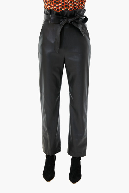 black vegan leather kayden pants