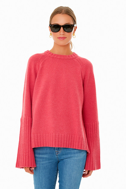 raspberry red finnegan sweater