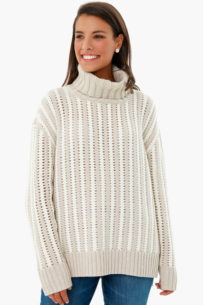 oatmeal and ivory pip sweater
