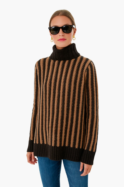 Black and Caramel Pip Sweater