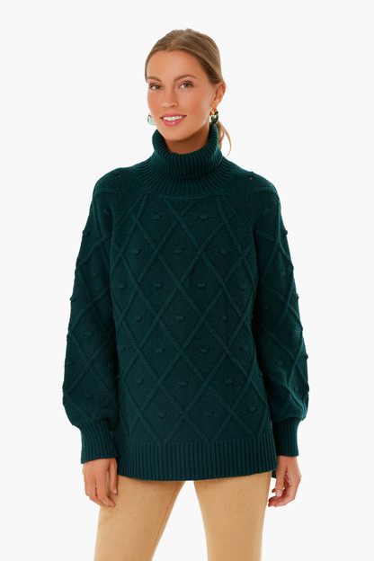 evergreen kent popcorn sweater