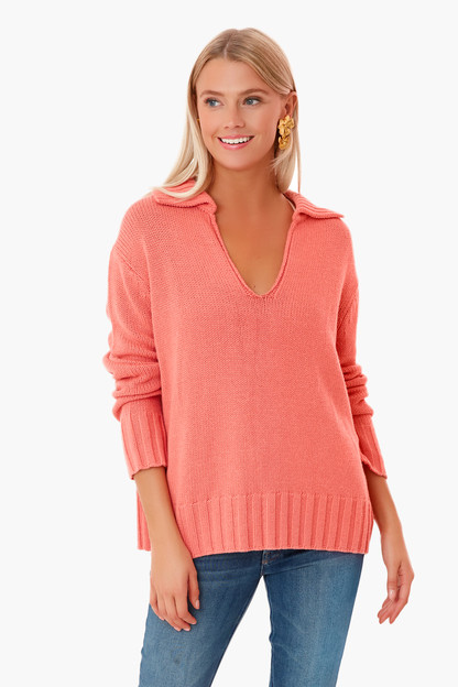 coral georgiana sweater