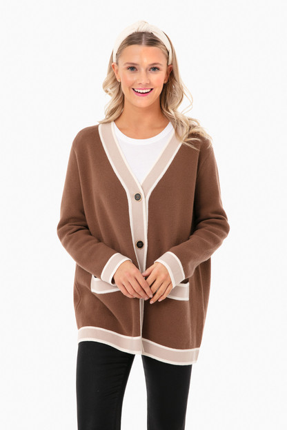 Mocha Lauren Cardigan Take up to 30% off with code BIGSALE.