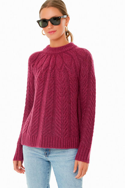 merlot royal peacock sweater