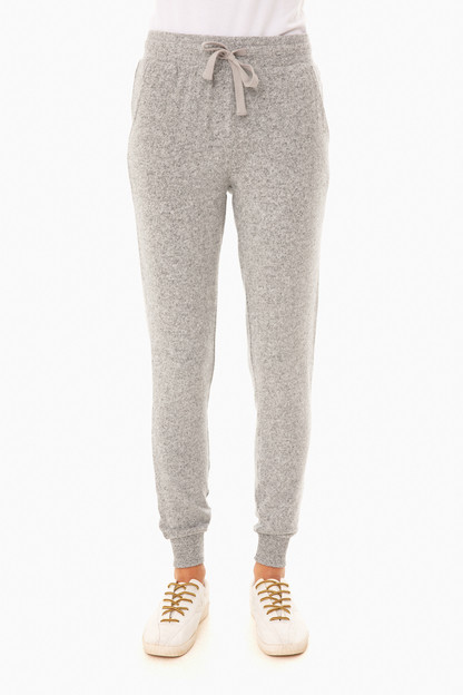 heather gray marled joggers
